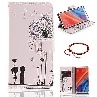 GOCDLJ Xiaomi Mi Mix 2s Custodia Copertura di Ccuoio Cover in PU Sintetica Pelle Guscio Caso Shell Cases Insiemi di Telefono Silicone Case Disegno Tigre Bianca