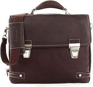HEILEMANN große Aktentasche DIN A4 Businesstasche Lehrertasche Collegetasche Ledertasche Bürotasche für Damen & Herren aus echtem Leder 39x32x12cm HE3001