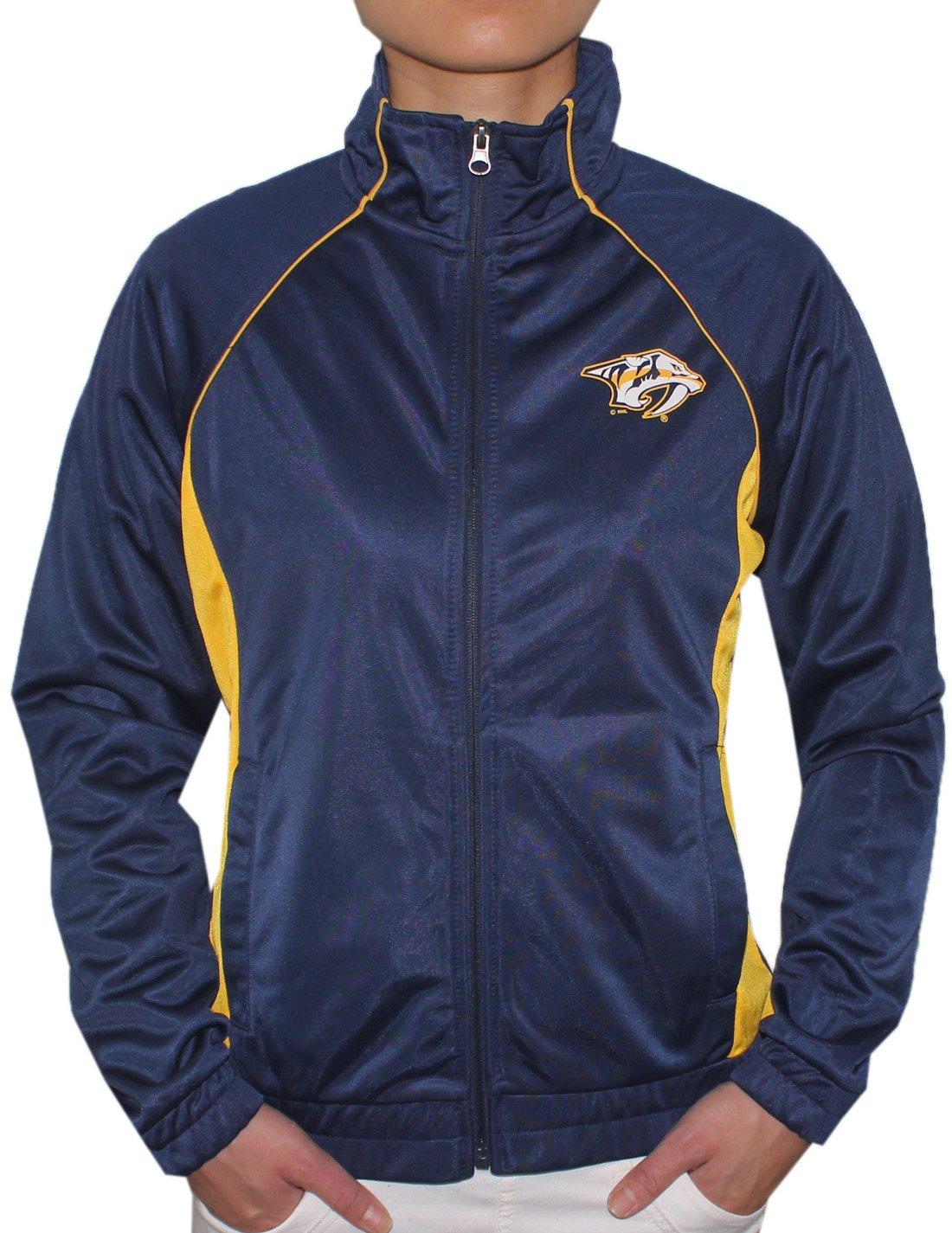レディースNAS Predators : Athleticジップアップジャケット B075ZFH5WYダークブルー Small