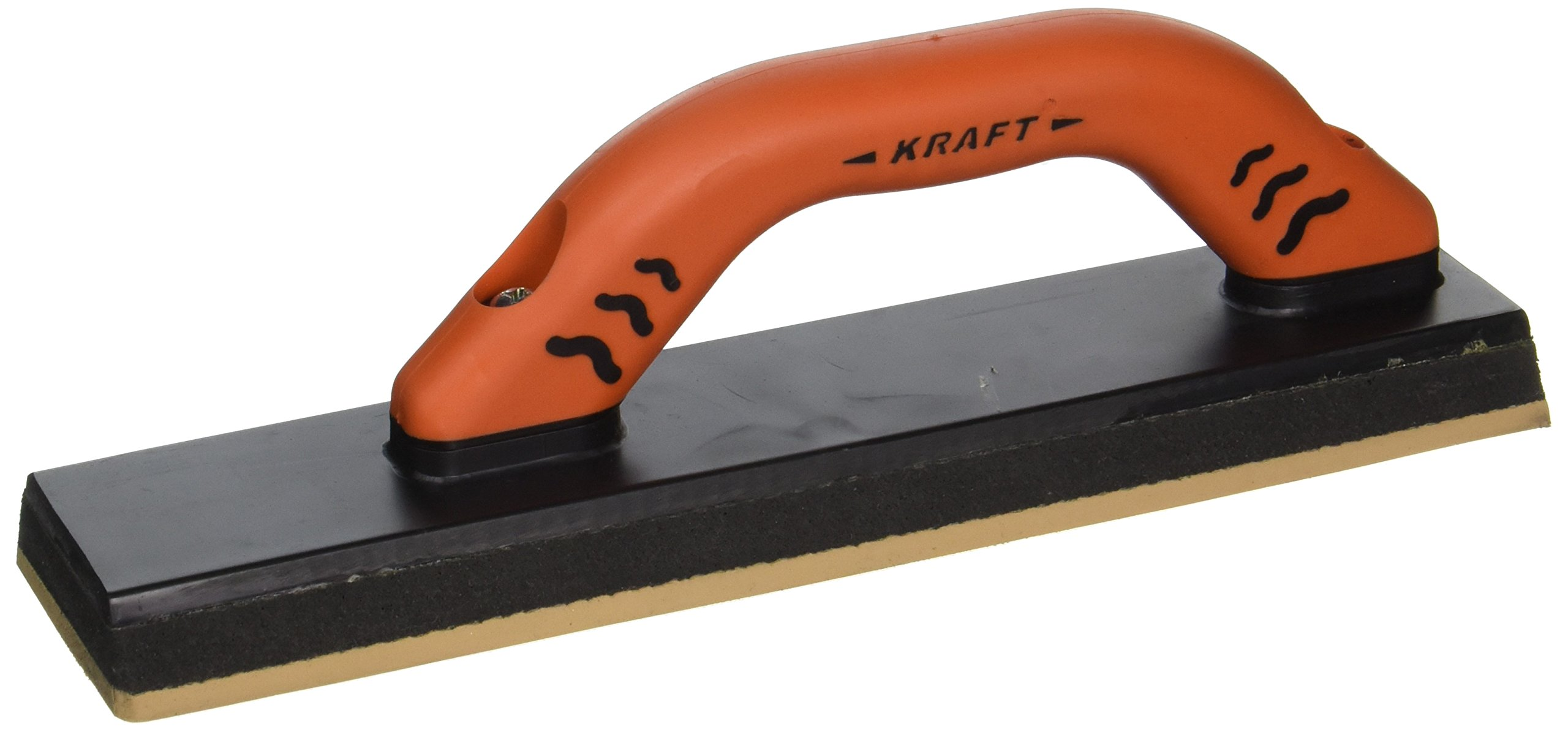 Superior Tile Cutter and Tools St127PF Toe Grout Float with ProForm Soft Grip Handle, 12-Inch x 3-Inch, Orange and Black