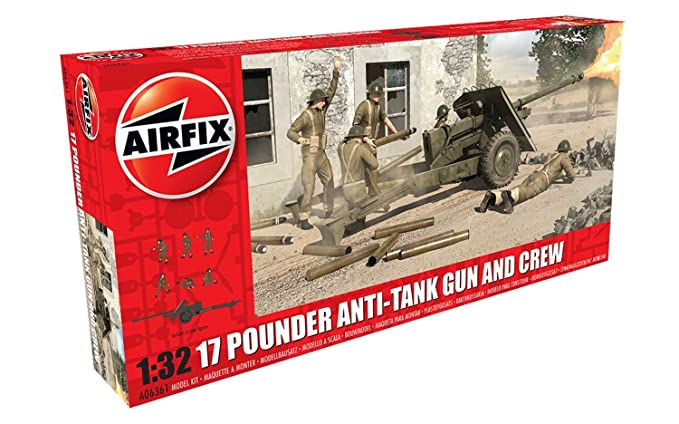 Amazon.com: Airfix A06361 17 Pounder Anti-Tank Gun & Crew ...