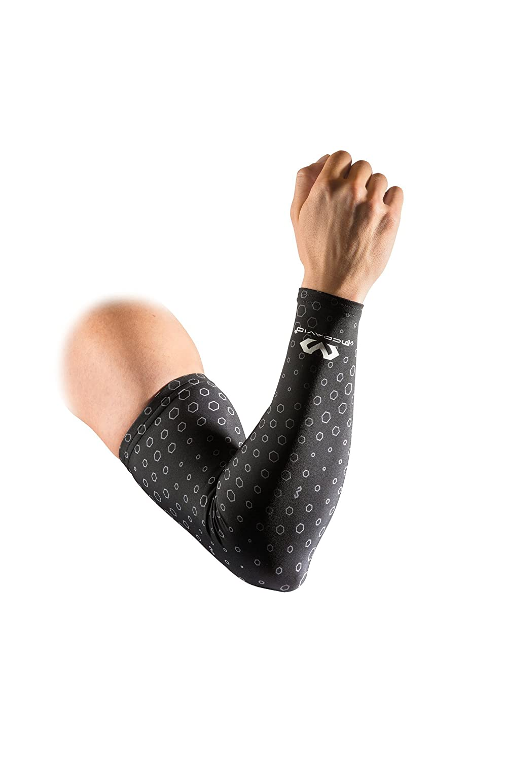 McDavid 6579 uCool Compression Arm Sleeves Cooling Arm Compression Sleeves with 50+ UV Sun Protection for Running