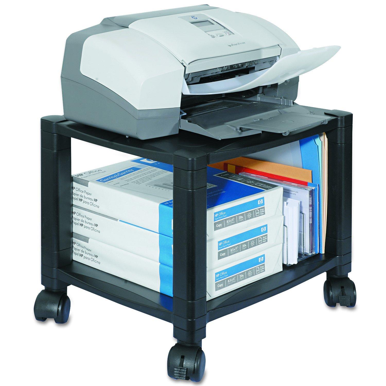 Kantek 2-Shelf Under-Desk Mobile Printer/Fax Stand, 17-Inch Wide x 13.25-Inch Deep x 14.125-Inch High, Black (PS510) by Kantek