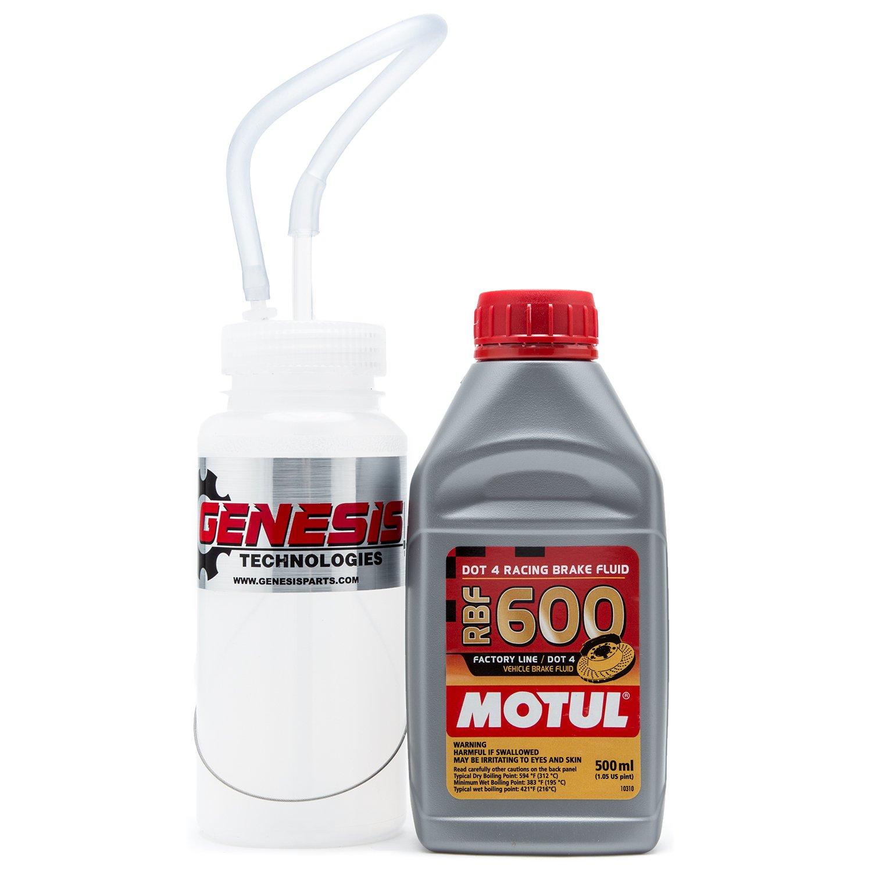 Brake Bleeding Kit With Cable Mount Bottle And Motul 8068HL RBF 600 by Genesis/Motul