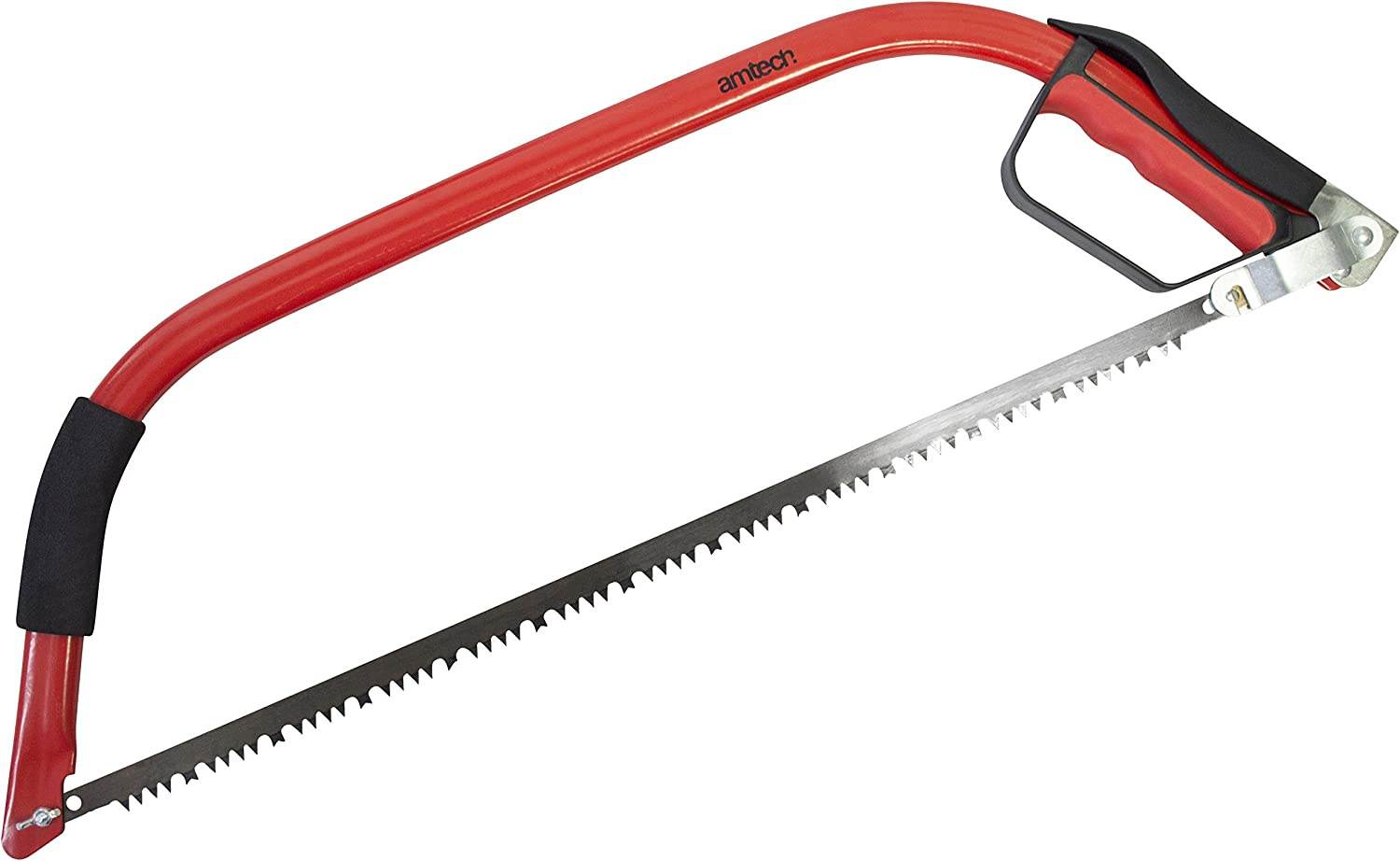 One Size Amtech M2615 24 Heavy Duty Bow Saw Black-Silver-Red