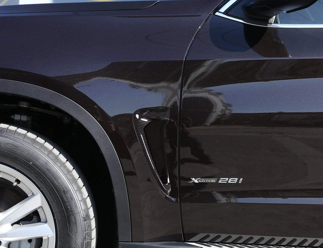 Autobro ABS Xdrive Carbon Fiber Shark Gills Side Decoration Fender Vent Trim For BMW X5 F15 X5M F85 14-17-Black White
