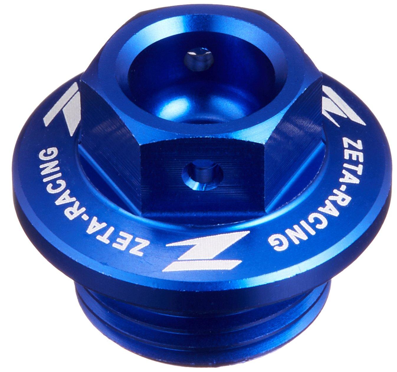 Zeta (ZETA) oil filler cap aluminum Blue Screw diameter / screw pitch: ?18 / P = 1.5 Suzuki [SUZUKI] Kawasaki [KAWASAKI] KX250F (04-14) Ketiemu [KTM] Husqvarna [Husqvana] ZE89-2312 DRC - ZETA