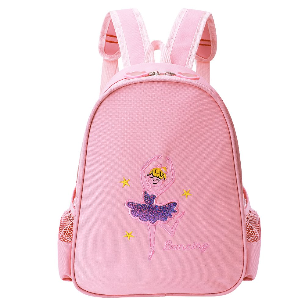 BAOHULU Toddler Backpack Ballet Dance Bag 9 Colors for Girls 2-8 Year (Pink)