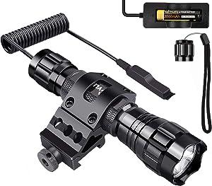 Free CVLIFE T6 LED Tactical Flashlight Remote Control…