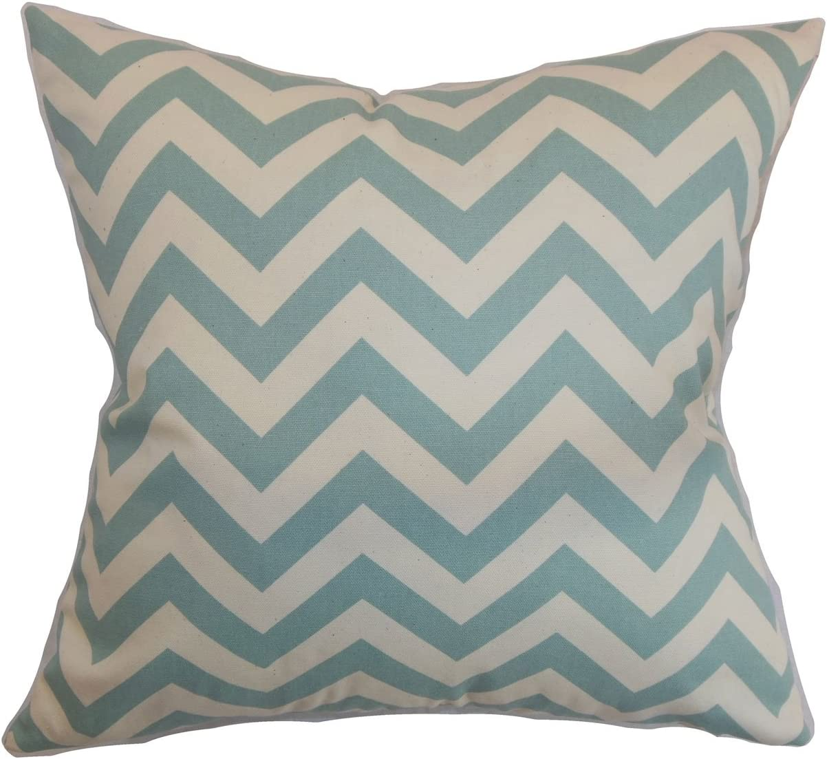 Amazon Com The Pillow Collection Xayabury Zigzag Pillow 18 X 18 Village Blue Natural Home Kitchen