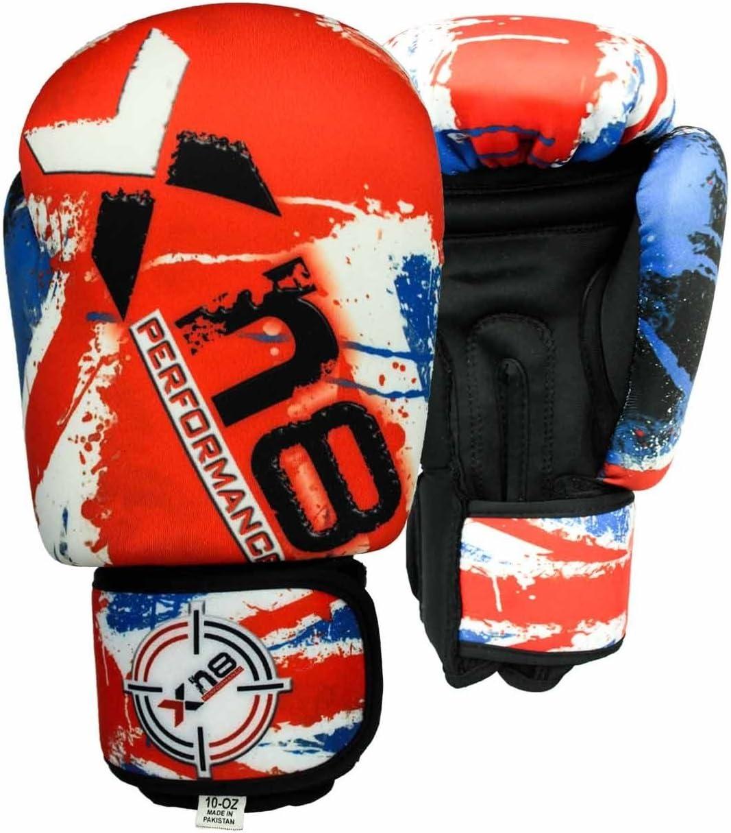 Guantes de boxeo de neopreno lavables para MMA, Muay Thai, golpear el saco, Kick boxing, etc. Para entrenamiento de artes marciales, con diseño de la bandera del Reino Unido, color UK Flag,