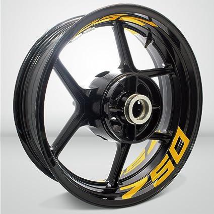 Amazon.com: Reflective Yellow Motorcycle Inner Rim Tape ...