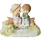 Precious Moments Limited Edition Caught in The Current of Love Bisque Porcelain 183003 Figurine, One Size, Multi