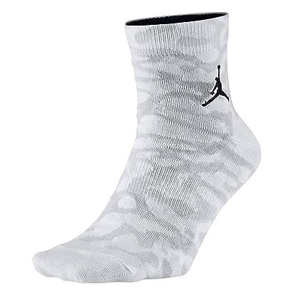 Nike Jordan Elephant QTR Calcetines, Hombre, Negro/Blanco, Small