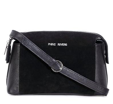 Phive Rivers Women s Leather Crossbody Bag (Black 27f6cd502138d