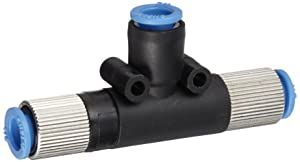 Vacuforce VMT0514 T Style Vacuum Venturi with an Internal Silencer, 0.5 mm Diameter, 1/4 mm Ports