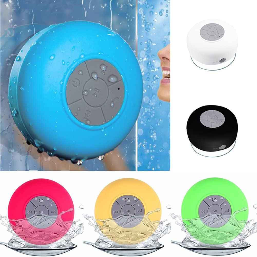 Aland Waterproof Wireless Bluetooth Hands-Free Mic Suction Speaker for Bathroom Shower Black
