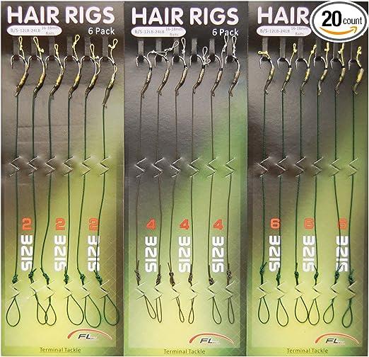 5x carp fishing hair rigs terminal tackle 2//4//6//8# curved hooks fishing tools XJ