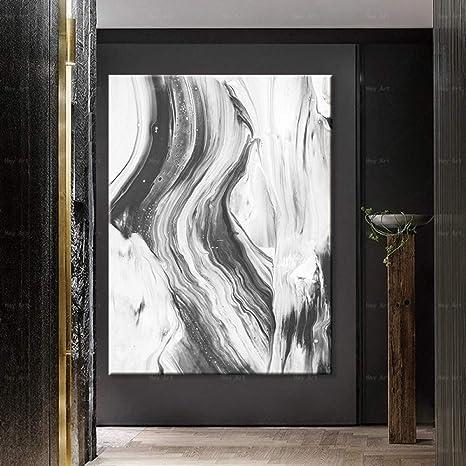 NIMCG Carteles Modernos Arte en Blanco y Negro impresión ...
