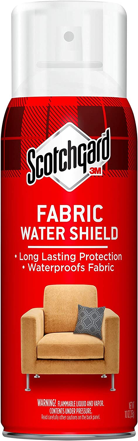 Scotchgard 40 Ounces (Four, 10 Ounce Cans) Fabric Shield, Ideal for Couches, Pillows, Furniture, Shoes and More, Repels Water, 40 Oz, 40 Fl Oz