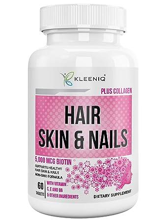 Amazon Com Hair Skin Nails Supplement Kleeniq With