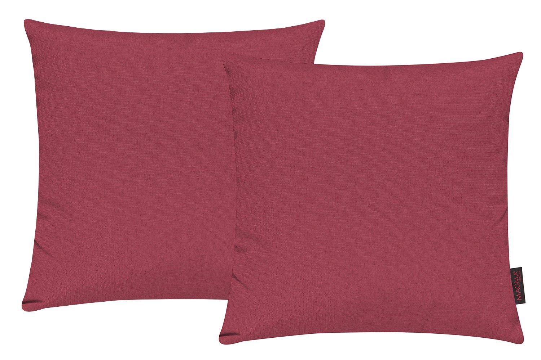 Set di 2 copricuscino per divano salotto - Dimensione: 40x40cm - Colore: Nero Magma