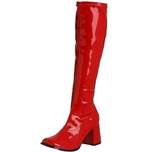 Pleaser Gogo 300, Sans doublure Cuissardes haut femme - Rouge (Red Str Pat), 40 EU