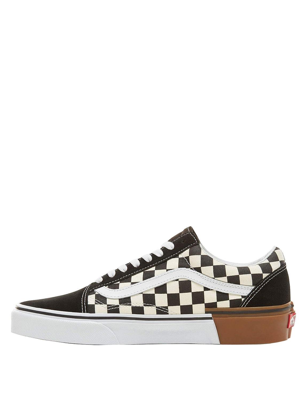 Vans Unisex-Erwachsene Old Old Old Skool Leder Sneaker, Schwarz schwarz d607a0