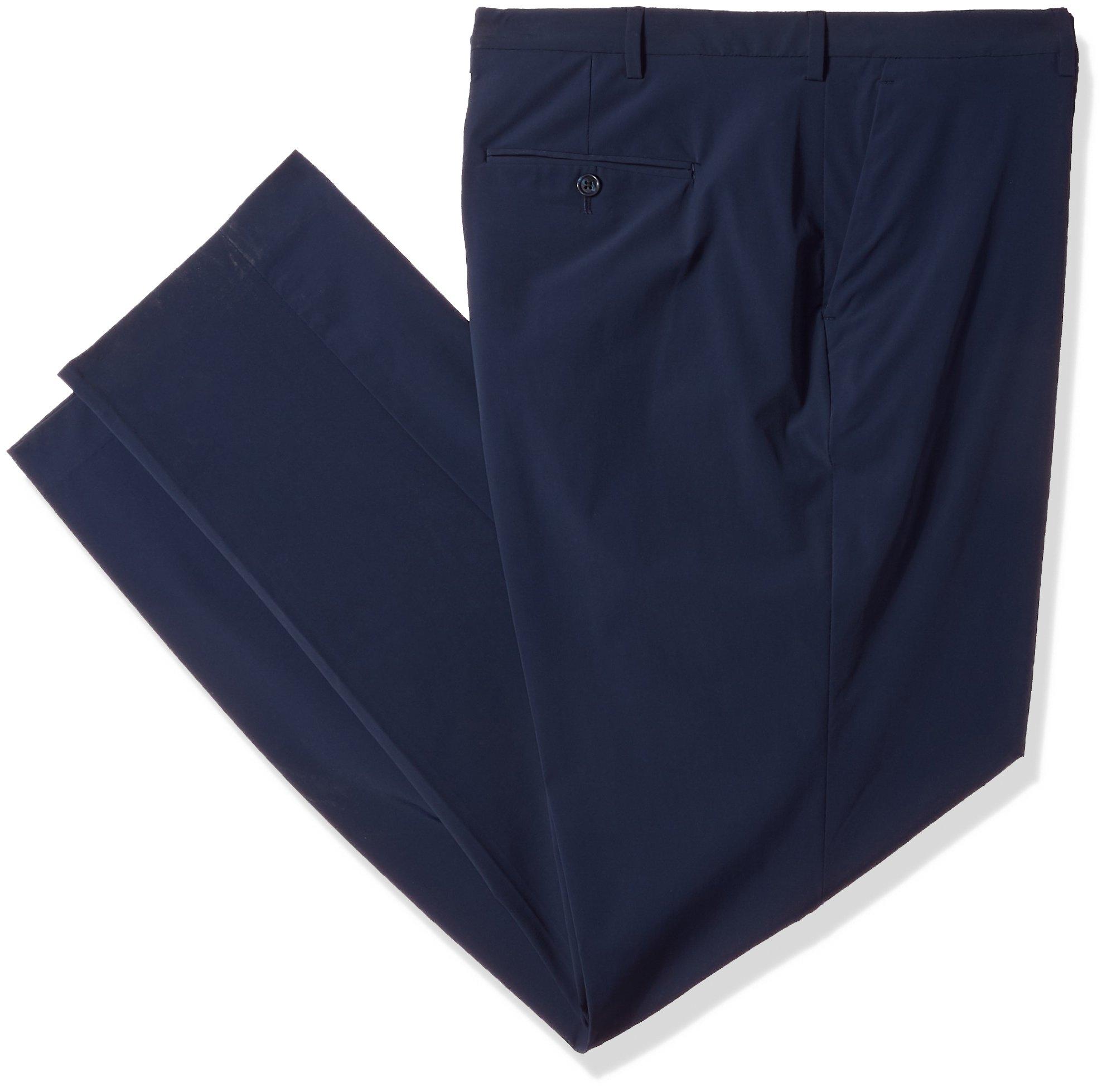 Perry Ellis Men's Tall Size Slim Fit Solid Tech Pant, Dark Sapphiret, 38W X 36L