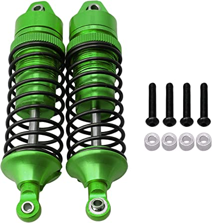 Hobbypark Aluminum Alloy Shock Absorber Assembled Full Metal Big Bore Shocks Front /& Rear Replacement of 5862 for Traxxas 1//10 Slash 4x4 4WD Upgrade 4-Pack Green
