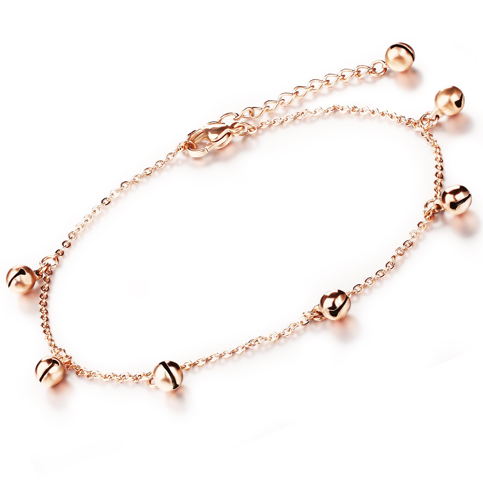 OPK Jewelry Gold Plated Anklet Bracelet Jingle Bells Pendant Foot Chain Women Summer Jewelry