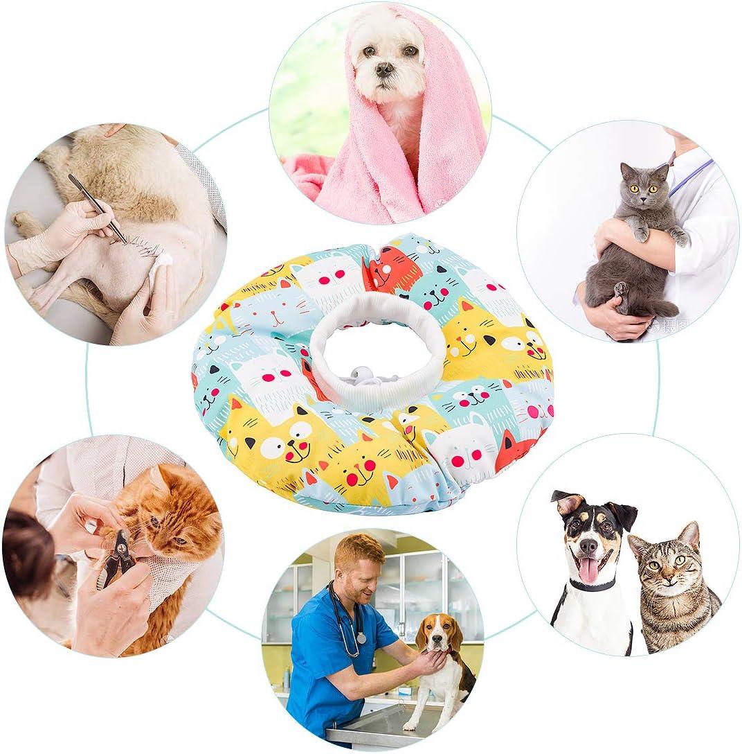 Impedisce Agli Animali Domestici di Leccare Direttamente le Ferite SenPuSi Collare di Recupero per Animali Domestici con Anello di Protezione per Animali Domestici Anti-morso di Sicurezza