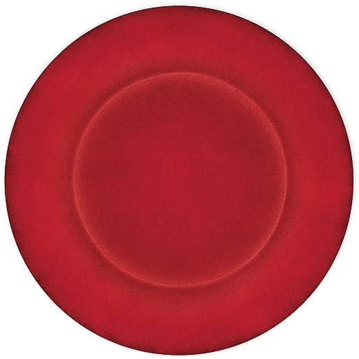 Le Cadeaux rojo granate - 16 piezas Cena y platos de ensalada (4 ...