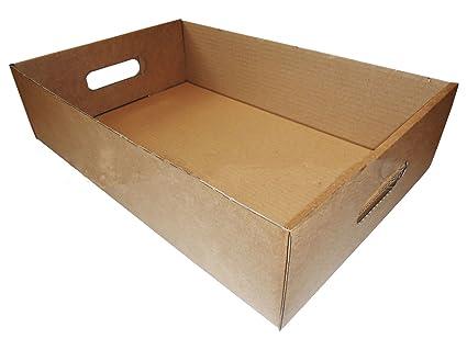 Bandejas de fruta latas de bebidas cajas de cartón marrón vegetal Herb producir bandejas de almacenamiento