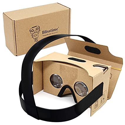 4ce71ef55783 Blisstime Google Cardboard V2.0 3-D Glasses VR Virtual  Amazon.co.uk   Electronics