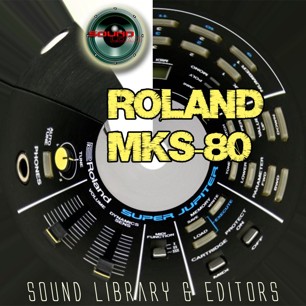 for ROLAND MKS-80 Original Factory & NEW Created Sound Library & Editors on CD or download