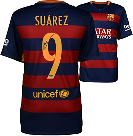 5b3e20e85 Luis Suarez Barcelona Autographed 2015-16 Home Jersey - Fanatics Authentic  Certified - Autographed Soccer Jerseys at Amazon s Sports Collectibles Store