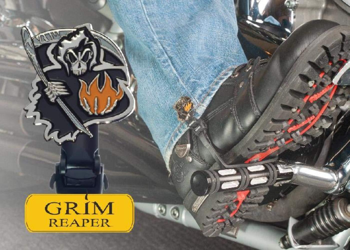 Biker Boot Straps Boot Strap Clips - Grim Reaper BBS-GRC