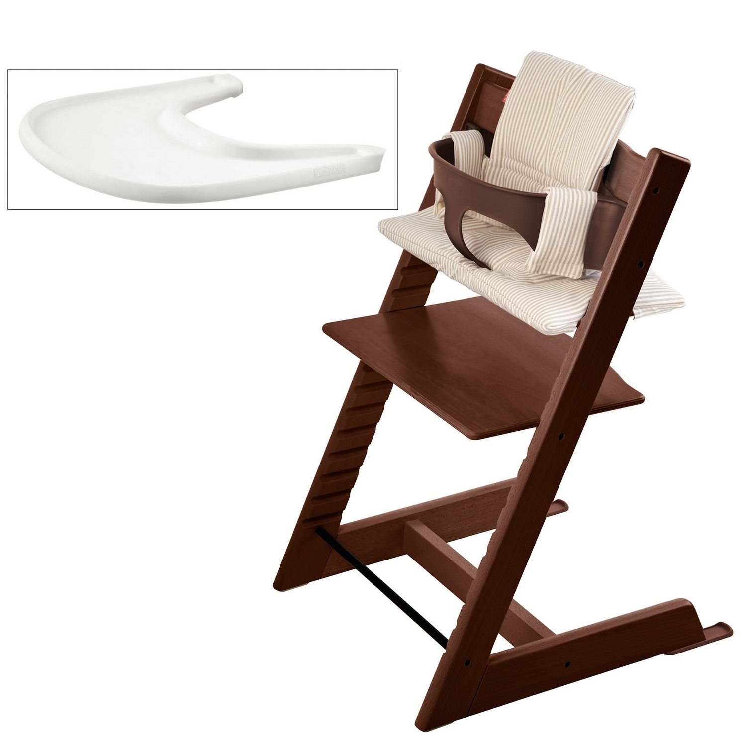 Stokke Tripp Trapp High Chair Bundle, Walnut