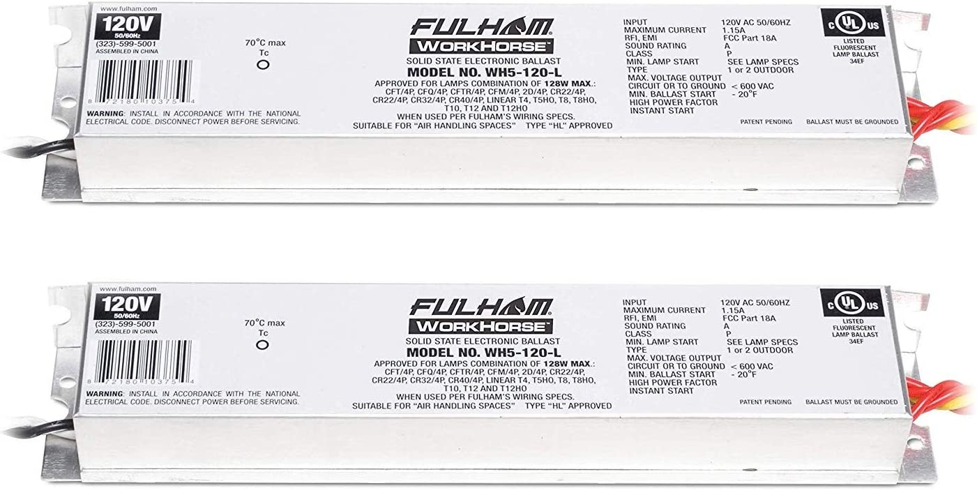 Fulham WH5-120-L 128W Adamax Workhorse 5 Fluorescent Electronic Ballast on