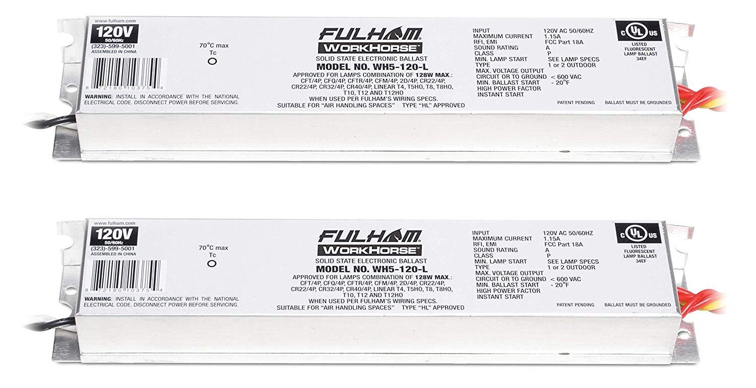 Fulham WH5-120-L 128W Adamax Workhorse 5 Fluorescent Electronic Ballast (2) Fulham Lighting