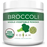 KOYAH - Organic USA Grown Broccoli Powder (1 Scoop Equivalent to 1/4 Cup Fresh): 25 Scoops, Whole-Vegetable Powder, 100% Freeze-dried