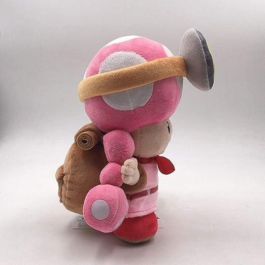 Jellycat conejo gris llavero de niffler cxjff Super Mario Bros capit/án Toadette suave felpa animal relleno del juguete con el morral sapo Treasure Rastreador de 8 pulgadas Los productos generalmente s