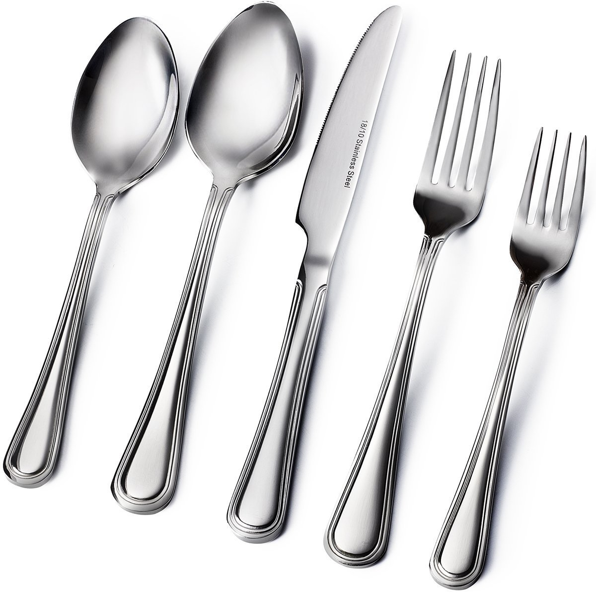 Sagler 20 Piece Flatware Set   Extra Thick Heavy Duty   18/10 Stainless  Steel Silverware Sets Set For 4 Flatware Sets