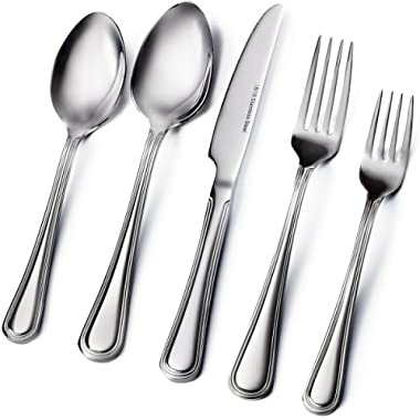 Sagler 20-Piece Flatware Set - Extra thick Heavy duty - 18/10 Stainless Steel silverware sets Set for 4 flatware sets