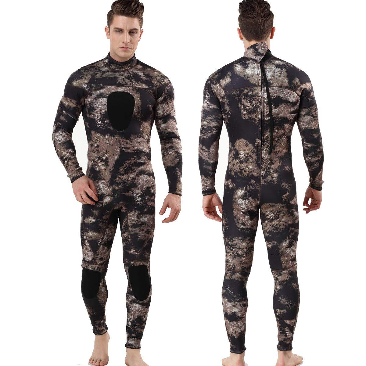 MYLEDI Neoprene 3mm Scuba Diving Suit One Piece Mens Spearfishing Full Body Spearfishing Wetsuit (MY045, L) by MYLEDI