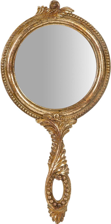 Biscottini Miroir Suspendu avec Finition Blanche Antique L19xPR2xH39 cm
