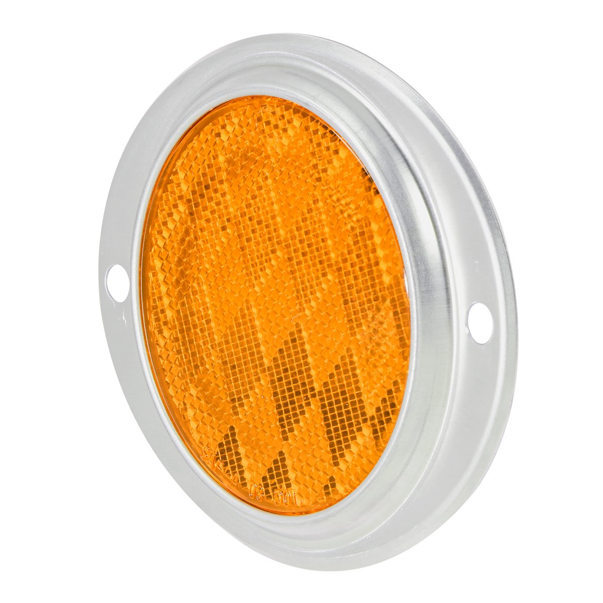 """RVs and Buses Towing Grand General 80811 Round Amber 3/"""" Stick-On Reflector for Trucks 1 Pack Trailers"""