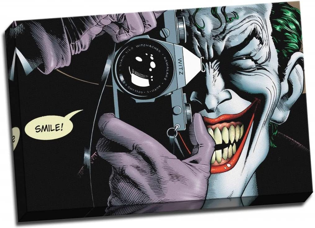 Joker di Batman 76,2 x 50,8 cm Stampa su tela incorniciata motivo: Heath Ledger