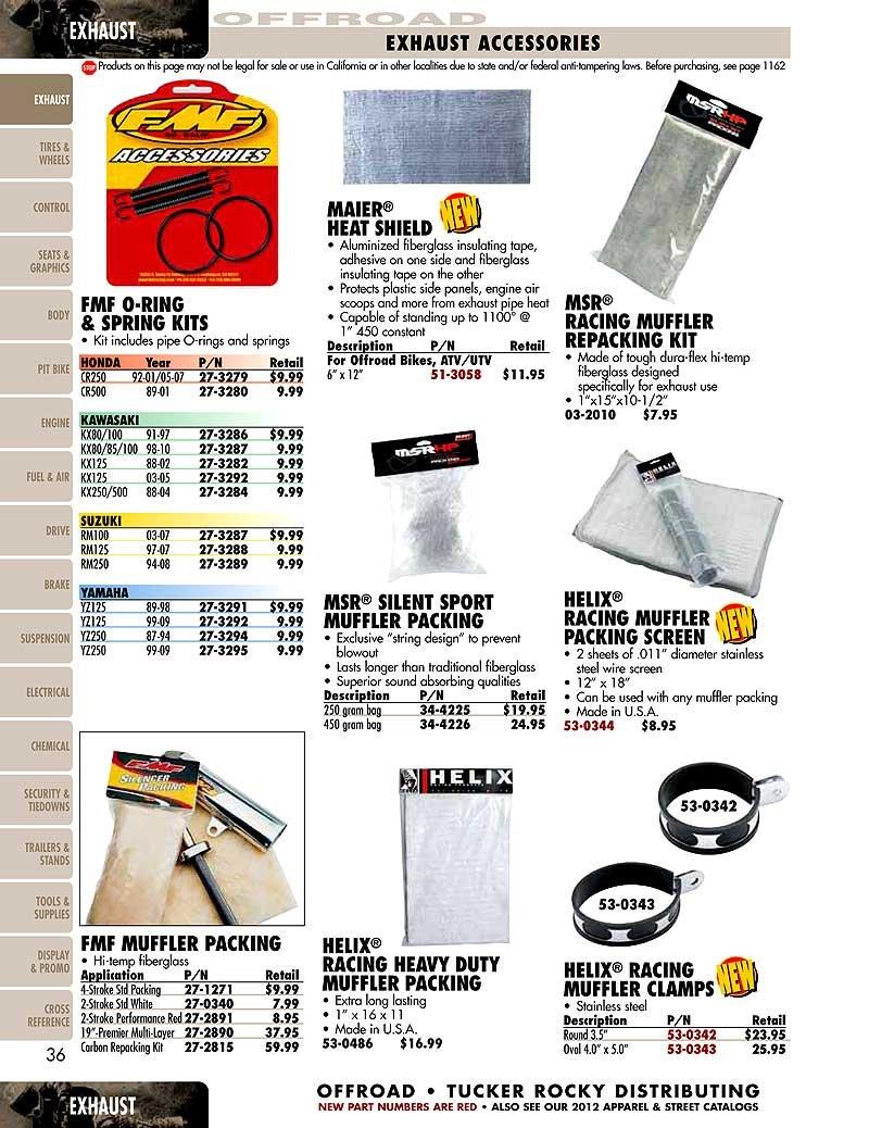 FMF 92-07 Honda CR250 O-Ring & Pipe Spring Kit